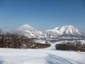 ホテルが運営するスキー場からの景色