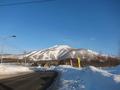 テンから見えるニセコビレッジスキー場の景色