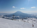 ロッジテンからアクセスしたスキー場からの景色