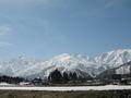 ホテルから見える白馬八方尾根スキー場