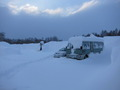 冬の駐車場の様子