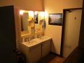 共用スペースの隣にある洗面所の様子