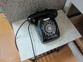館内温泉にある黒電話!
