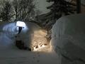 雪壁の入口