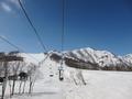 ペンション周辺のスキー場の様子