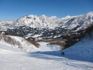 ホテル最寄のスキー場の様子