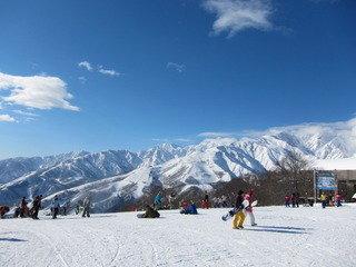 ペンション近隣のスキー場の様子
