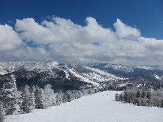 宿近隣のスキー場の様子