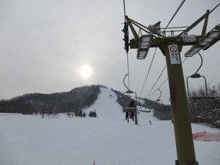 宿近辺のスキー場の様子