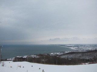 ホテル周辺のスキー場の様子