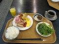 朝食メニューの様子