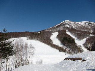 ホテル最寄のスキー場(飯綱高原)の様子