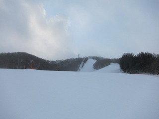 宿最寄の市民スキー場の様子