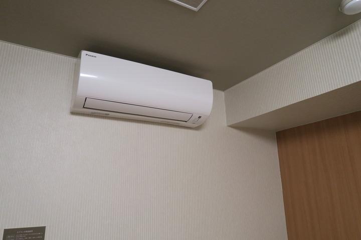 部屋の空調の様子