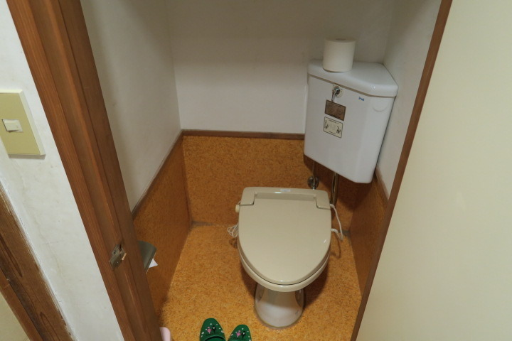 部屋のトイレの様子