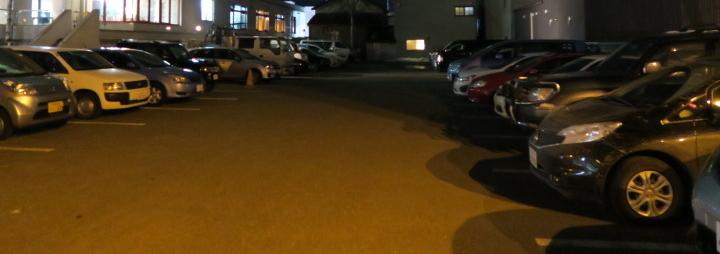 屋外駐車場の様子