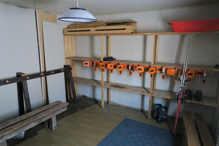 スキー乾燥室の様子