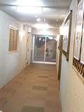 湯けむり館に向かう廊下です