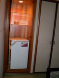 部屋の中の冷蔵庫
