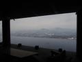 外の休憩所からの眺望