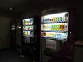 客室の廊下にある自動販売機