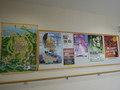 客室の廊下の壁ポスター