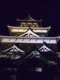 ライトアップの広島城