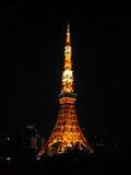 部屋から見た東京タワー(夜)