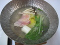 夕食(鰤しゃぶ)