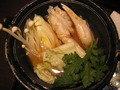 夕食の蟹鍋