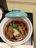 夕食の縄文蕎麦