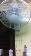 更衣室の扇風機