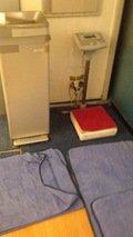 体重計と冷水器
