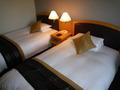 ツインのベッドルーム