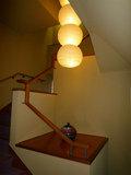 風呂場に繋がるおしゃれな階段