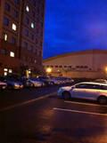 ホテル裏側の駐車場