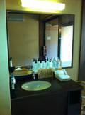 貸切露天風呂「月」の洗面所