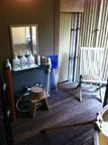 貸切露天風呂「月」の洗い場