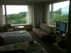 大きな窓からみる雄大な北海道