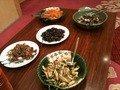 朝飯バイキングに並ぶ会津郷土惣菜の数々