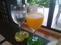 朝のオレンジジュース
