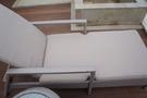 屋上の貸切風呂にある、椅子