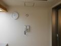 風呂場の時計と電話