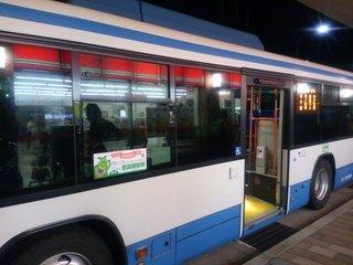 ホテル行きのバス
