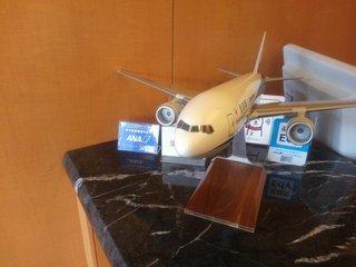 フロントにある飛行機の模型
