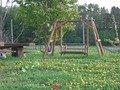 お庭のブランコ