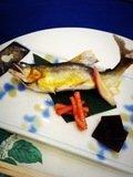 夕食 鮎の塩焼き