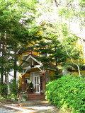 森の中にある可愛らしい建物