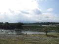 露天風呂の外は利根川
