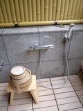 客室露天風呂の洗い場